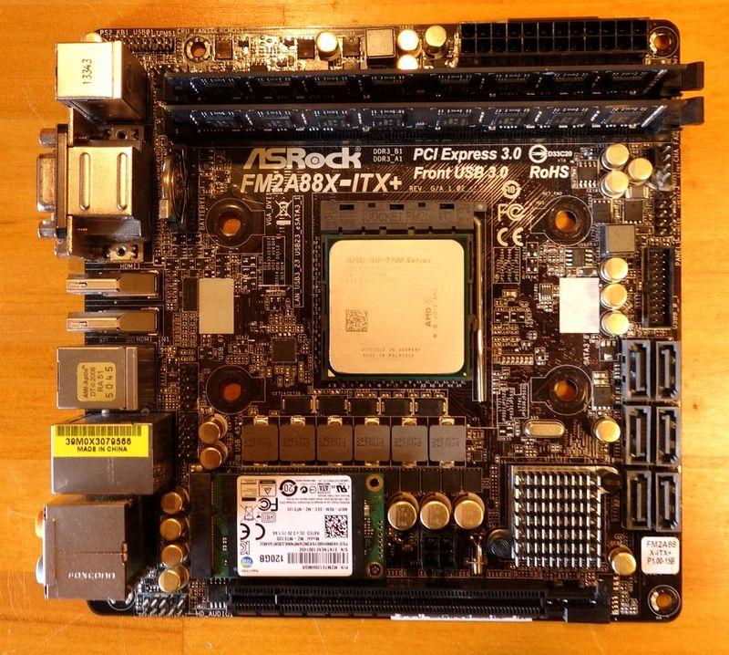 FM2A88X-ITX+と840 EVO mSATA